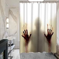 Custom Shower Curtains Bloody Horror Custom Shower Curtain Bathroom Decor Shower