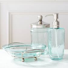 Cracked Glass Bathroom Accessories Green Glass Bathroom Accessories