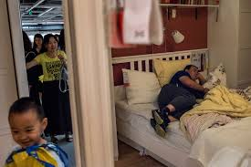 Sleep Number Bed Commercial 2016 Shh It U0027s Naptime At Ikea In China The New York Times