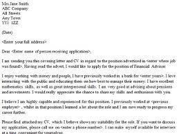 financial advisor cover letter sample lettercvcom cover letter