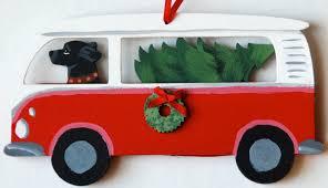 black lab retriever bus van dog christmas ornaments u2013 for the