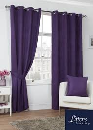 Plum Velvet Curtains 90x72in 228x183cm Plum Luxury Faux Suede Eyelet Curtains Lined