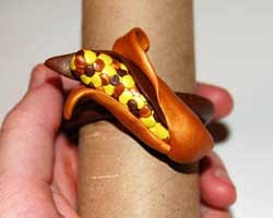 thanksgiving napkin rings clay thanksgiving napkin ring free craft project