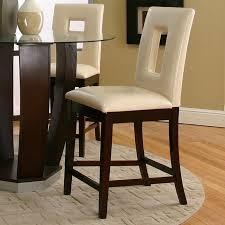 Ivory Bar Stools Emerson Counter Height Dinette With Ivory Vinyl Chairs Cramco