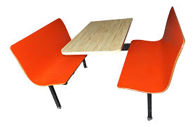 mid century modern plymold restaurant booth u0026 benches chairish