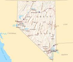 City Map Of Arizona by Large Map Of Nevada State With Highways And Major Cities Vidiani