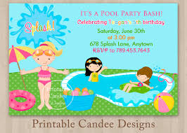 pool party invitations for kids free printable pool parties