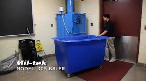 miltek baler and trash compactor at george mason high youtube