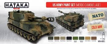 us army paint set merdc camouflage hataka