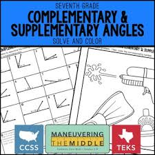 complementary and supplementary angles by maneuvering the middle