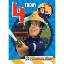 fireman sam age 4 badged birthday card danilo