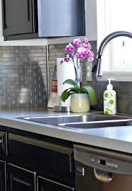 Tiles For Backsplash In Kitchen Easy Sleek U0026 Chic Subway Tile Backsplash