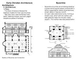 greek cross floor plan comparison between early christian and byzantine architecture