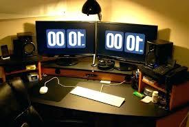 Computer Desk For Two Monitors Computer Desk For Two Monitors Mounted Monitor Stand With Built In