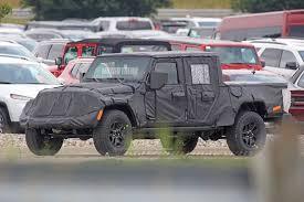 jeep hellcat truck jeep wrangler pickup truck prototype shows off ram inspired
