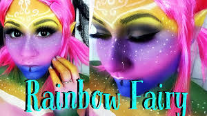 rainbow fairy halloween makeup tutorial 2015 last minute ideas