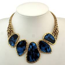 vintage jewelry choker necklace images Hot sell chunky chains bib collars choker statement necklace women jpg