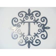 monogram letter t letter t wall decor custom monogram initial wall decor monogram