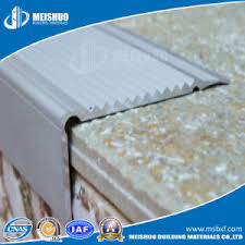 china aluminum base with strips safety metal stair nosing for step