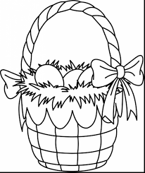 remarkable cute easter coloring pages with easter basket