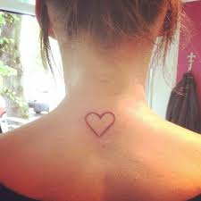 behind the neck heart shape tattoo cool tattoos online