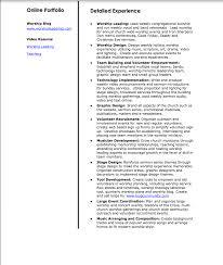 worship pastor resume resume for your job application