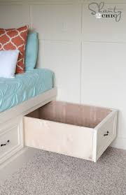 diy built in storage bed shanty 2 chic