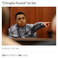 Russell Meme - funniest deangelo russell memes for ratting out nick young atlanta