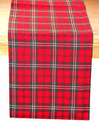 Christmas Plaid Table Runner by Cotton Christmas Prince Edward Tartan Table Runner Homescapes