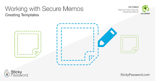 working with secure memos creating templates