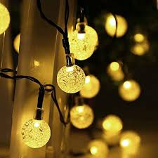 Patio Decorative Lights Qedertek Globe Outdoor Solar String Lights 20ft 30 Led