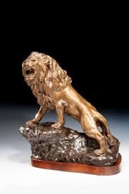 antique bronze lion francois cartier bronze lion