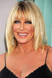 Inspiring Suzanne Somers Hairstyles With Bang Celebrity Stock