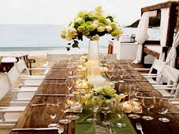 outdoor christmas table settings beach wedding reception table