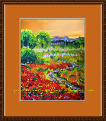 quilled nature landscape picture painting art meadow path jpg 900