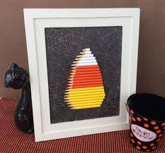 halloween frame craft recycled craft colored pencil candy corn halloween decoration