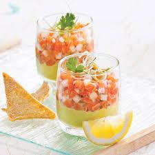 cuisine verrine tartare de saumon à l asiatique en verrine recettes cuisine et