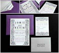 Wedding Invitations Purple Purple And Silver Wedding Invitations Wedding Corners