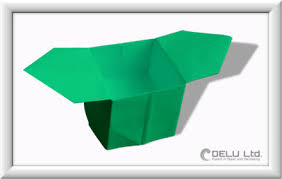 Paper Origami Box - how to make a origami box with handles 皓 delu ltd finest paper
