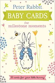 baby cards rabbit baby cards for milestone moments beatrix potter