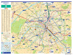 Map Scales Large Scale Metro Map Of Paris City With Roads Vidiani Com