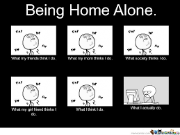 Meme Alone - being home alone funny meme picture for whatsapp