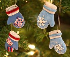 adorable mitten ornaments made from sculpey clay