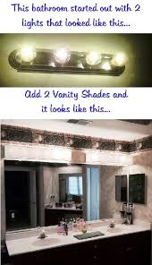 diy bathroom vanity light cover cover ugly hollywood lights bathroom diy home pinterest throughout