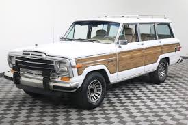 jeep wagoneer 1990 rare bright white luggage rack 1990 jeep wagoneer offroad for sale