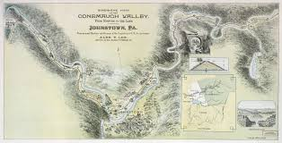 Cambria Map Path Of The Flood Van Tours And Hikes Johnstown Flood National