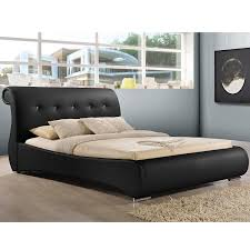 Queen Size Daybed Frame Amazon Com Baxton Studio Pergamena Leather Contemporary Bed