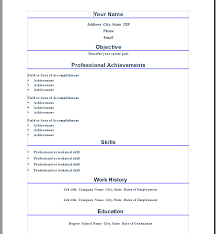 resume format on microsoft word 2010 resume template category page 1 urlspark com