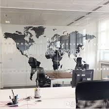 new black map of the world wall sticker office background wall