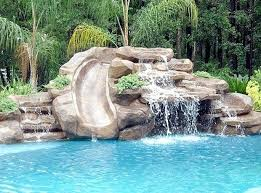 Best Backyard Water Slides Best 25 Pool Slides Ideas Only On Pinterest Pool With Slide